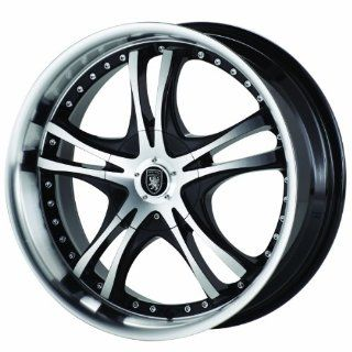 Von Max VM1 18x7.5 Machined Black Wheel / Rim 4x100 & 4x4.5 with a