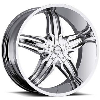 Milanni Phoenix 22 Chrome Wheel / Rim 6x5.5 with a 20mm Offset and a