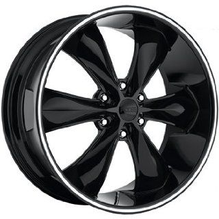 Foose Legend 6 22x9.5 Black Wheel / Rim 6x5.5 with a 35mm Offset and a