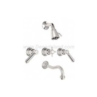 California Faucets 3 Valve Tub & Shower Set Trim Only TO