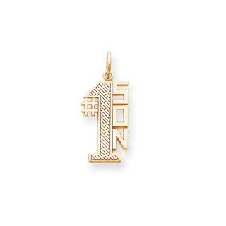 14k Number 1 Son Charm   Measures 27.8x12mm   JewelryWeb