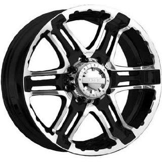 Gear Alloy Double Pump 22x9.5 Black Wheel / Rim 8x170 with a 10mm