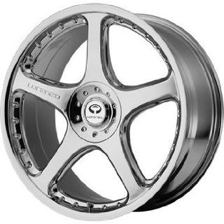 Lorenzo WL028 18x9.5 Chrome Wheel / Rim 5x112 & 5x4.5 with a 40mm