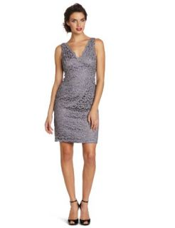 Adrianna Papell Womens Lace Cocktail Dress Clothing