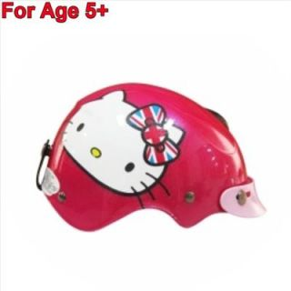 Hello Kitty Kids Motor Bike Helmet Harley Union Jack England Hotpink