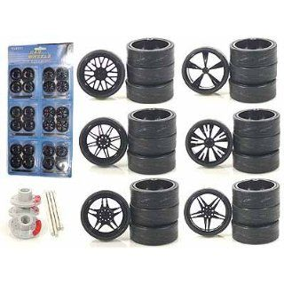 Black Replacement Rims For 1/18 Scale Cars & Trucks Toys & Games