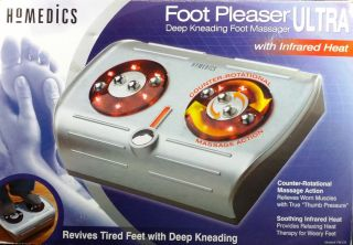 Homedics Foot Pleaser Ultra   Deep Kneading Foot Massager with Heat #