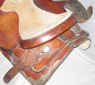 Hereford Brand Tex Tan Western Show Pleasure 16 5 Saddle Fancy Tooled