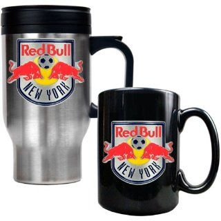 New York Red Bulls MLS Stainless Steel Travel Mug and