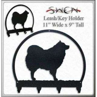 SPITZ SAMOYED / AMERICAN ESKIMO DOG Metal Key Chain Hanger