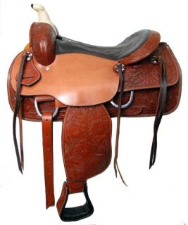 Western Pleasure Trail Saddle by Double T New Horse Tack Wrapped Horn