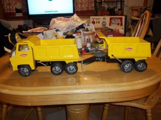 TONKA DUMP TRUCK PLUS DUMP TRAILER AND SANDLOADER