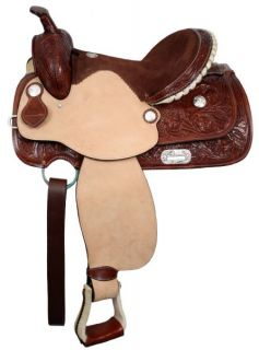 TREE Western Pleasure / Trail Saddle w/ Silver Accents NEW Horse Tack