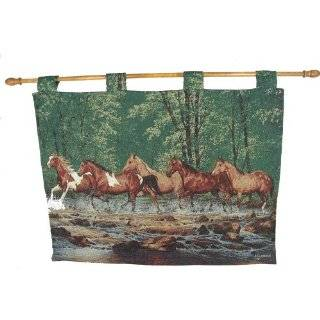 Creek Run Hanging Wall Art Horse Tapestry 35 x 27