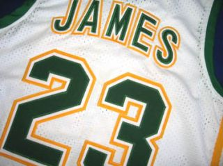 Lebron James Irish High School Jersey White All Sizes