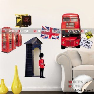 Modern House LONDON Soldier Phone Booth Double Deck Bus