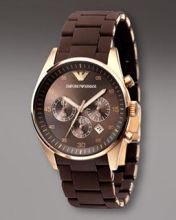 N11Z2 Emporio Armani Chronograph Sport Watch, Brown