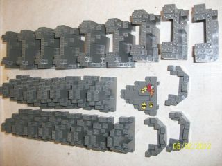 NICE Lego Dark Grey castle/rock walls lot. Must Have for any castle