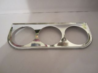 Hot Rod Triple Gauge Chrome Mount Panel for 2 1 8 inch Gauges