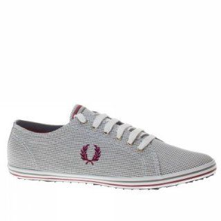 Fred Perry Trainers Shoes Mens Kingston Window Pane Check