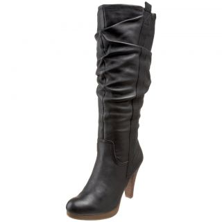 "Rjgirl ""Bashani"" Black Leather Knee High Boot"
