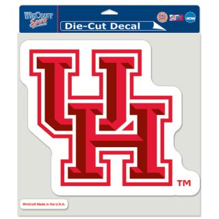 University of Houston Cougars 2012 Logo Die Cut NFL Decal 8 x 8