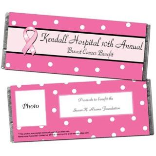 Polka Dot and Pink Ribbons Personalized Photo Candy Bar