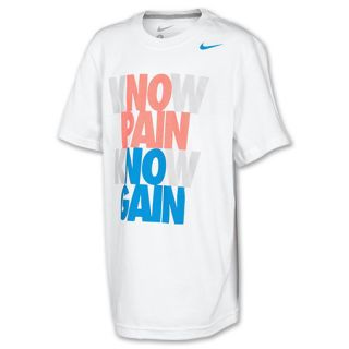 Kids Nike Verbiage Tee Shirt White/Dark Grey