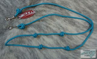 Nylon Barrel Reins w Snaps for Bit Attachment New Horse Tack