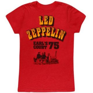Led Zeppelin   Earls Court 75 Juniors T Shirt Clothing