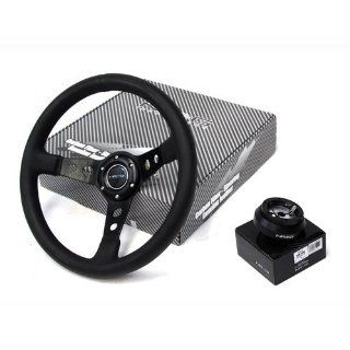 80 90 Jeep Cherokee NRG Steering Wheel + Hub Adapter Black Combo