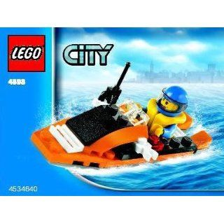Lego City Mini Figure Set #4898 Coast Guard Boat (Bagged