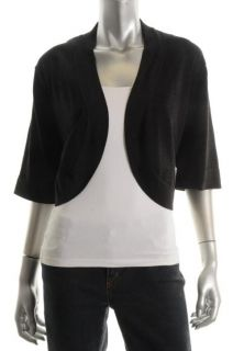 Jessica Howard New Black Metallic Casual Bolero Cardigan Sweater Top