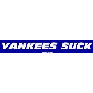YANKEES SUCK Large Bumper Sticker    Automotive