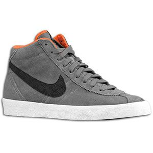 Nike Bruin Mid   Mens   Basketball   Shoes   Dark Grey/Team Orange