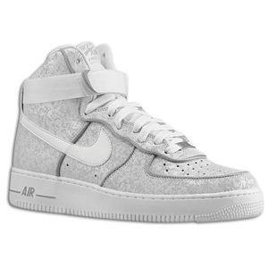 Nike Air Force 1 High   Mens   Summit White/Summit White/Metallic