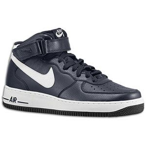 Nike Air Force 1 Mid   Mens   Basketball   Shoes   Obsidian/White