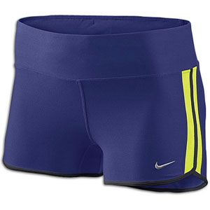 Nike 2 Boy Short   Womens   Running   Clothing   Night Blue/Volt