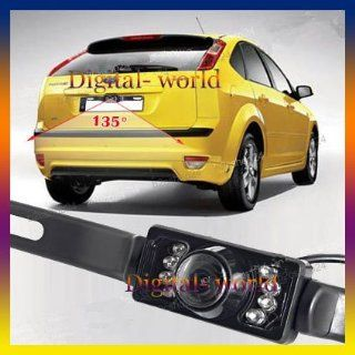 car auto ir back up night vision 135 wide angle 7 led car