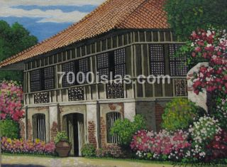 Iloilo Ancestral House 12x16 Philippine Architecture Art Oil Painting