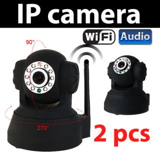 Detect 2 Way Audio WiFi Wireless IR IP Camera Built in Microphone
