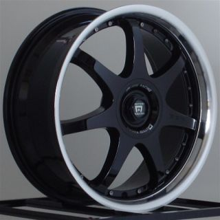17 inch Wheels Rims Motegi Racing FF7 Gloss Black 5 Lug MR2378 5x100