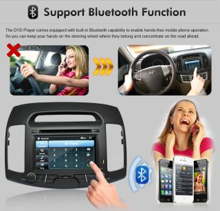 inches 2 DIN Hyundai Elantra Car GPS Navigation Bluetooth  iPod