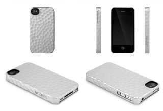 Incase Metallic Hammered Silver Snap Case Apple iPhone 4 4S Cover