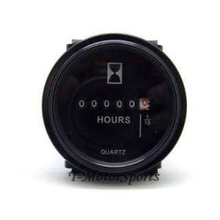 Quartz Round Back Trim Ring Hour Meter Boat Tractor Generator