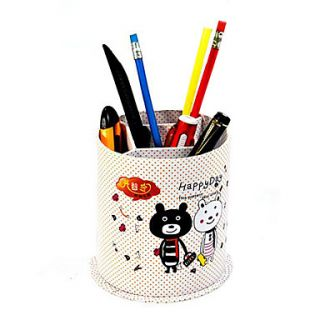USD $ 7.29   Cute Bear Cylinder Shaped Pen Holder,