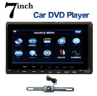Din 7 Car DVD CD  Player TouchScreen In Dash Stereo FM Radio Camera
