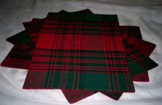 NIP Lintex Christmas Holiday Placemat 4P Set RCTNGL Red Green Gold
