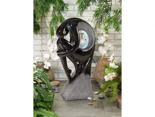 Sculpture Illuminated Indoor Outdoor Water Fountain w Light
