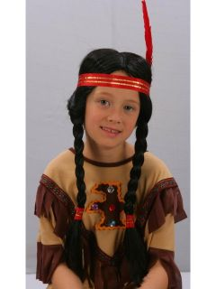 Kids Indian Girl Pocahontas Fancy Dress Costume Party Wig PO85